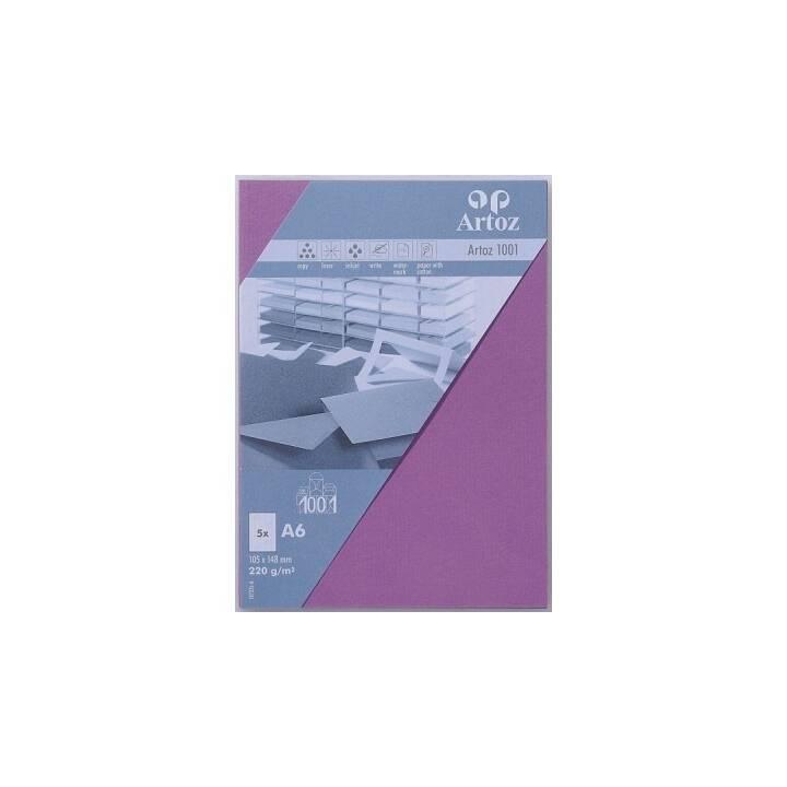 ARTOZ Biglietto in bianco (Universale, A6, Porpora)