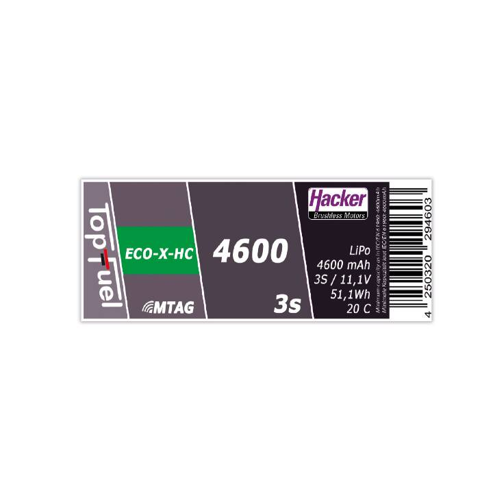 HACKER Accumulatore TopFuel (LiPo, 4600 mAh, 11.1 V)