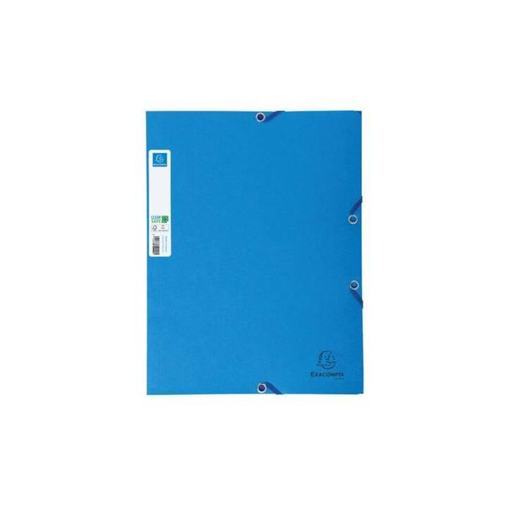 EXACOMPTA Cartellina con elastico (Blu, A4, 5 pezzo)