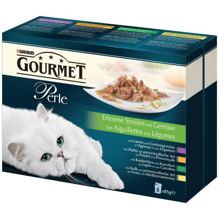 PURINA Gourmet Perle (Senior, Adult, 85 g, Kalb, Kaninchen, Huhn, Lamm)