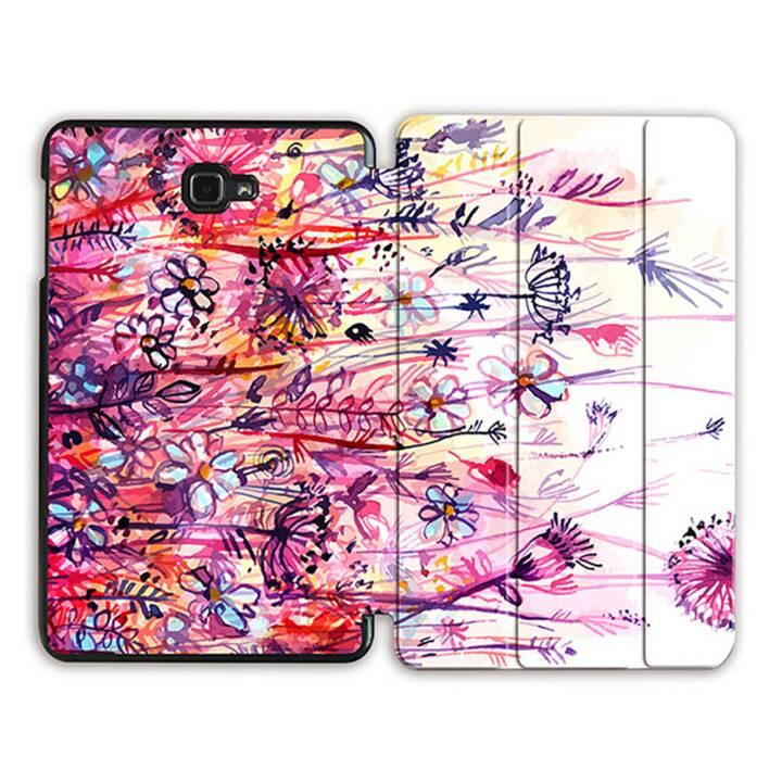 """EG MTT Tablet Tasche mit Smart faltbare Abdeckung für Samsung Galaxy Tab A 10.1"""" (2016)- Rosa Blumen"""