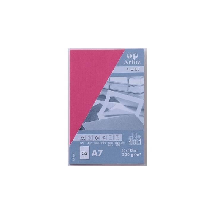 ARTOZ Visitenkarten 1001 A7 Fuchsia - 5 Stück