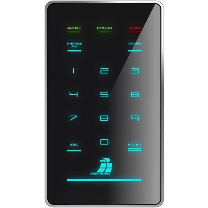 DIGITTRADE HS256 S3 (USB 3.0, 2000 GB, Nero)