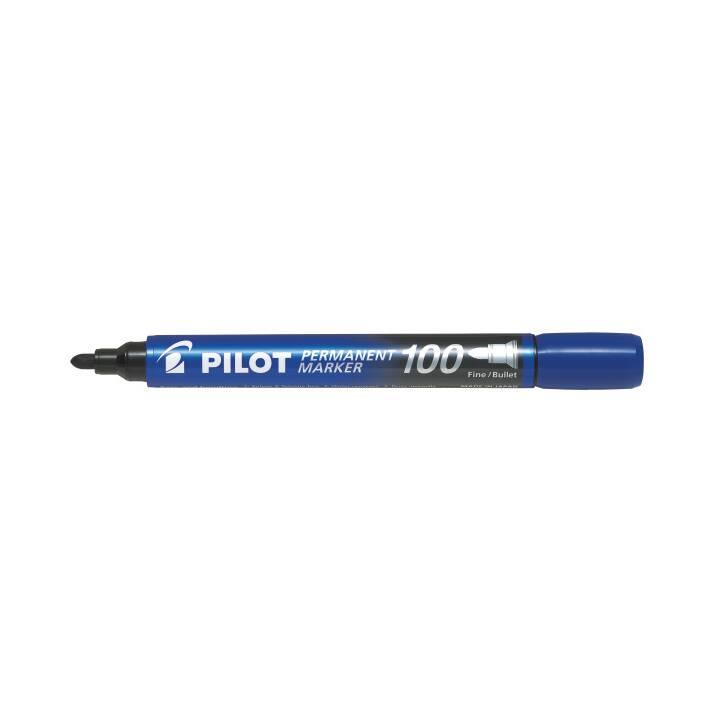 PILOT PILOT PEN Marqueur permanent 100 pointe ronde 1mm bleu