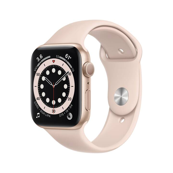 APPLE Watch Series 6 GPS (44 mm, Alluminio, Silicone)
