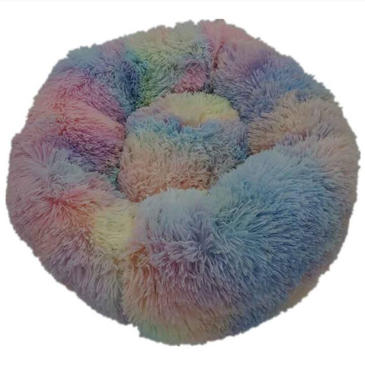 EG rutschfestes rundes Haustierkissen (50 cm) - Haustier weniger als 5 kg - Muti-Farbe