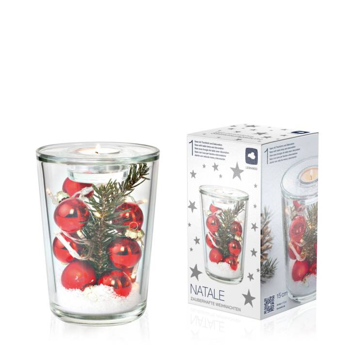 LEONARDO Teelichthalter (Mehrfarbig, Rot)