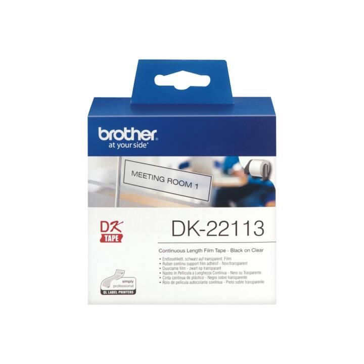 Etichette senza fine BROTHER, 62 mm x 15,24 m