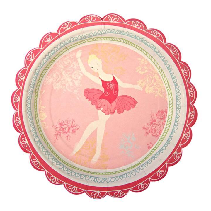 MERI MERI Little Dancer assiettes jetables (185 mm, 12 pièce)