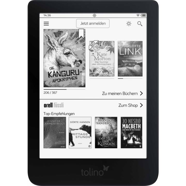 "TOLINO Shine 3 (6"", Schwarz, WLAN, 8 GB, Family Sharing)"