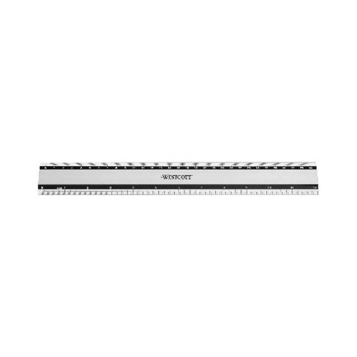 Règle en aluminium WESTCOTT 30cm