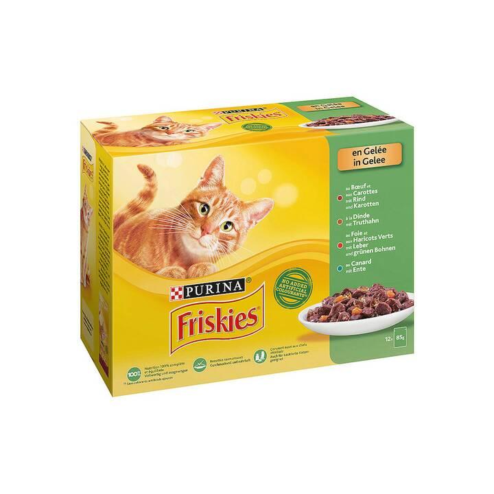 FRISKIES Nassfutter (Adult, 85 g, Gemüse, Truthahn, Ente, Rind)
