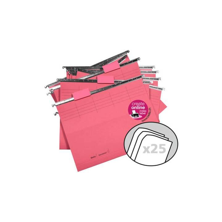 BIELLA file di sospensione, A4, rosso, 25 pz.