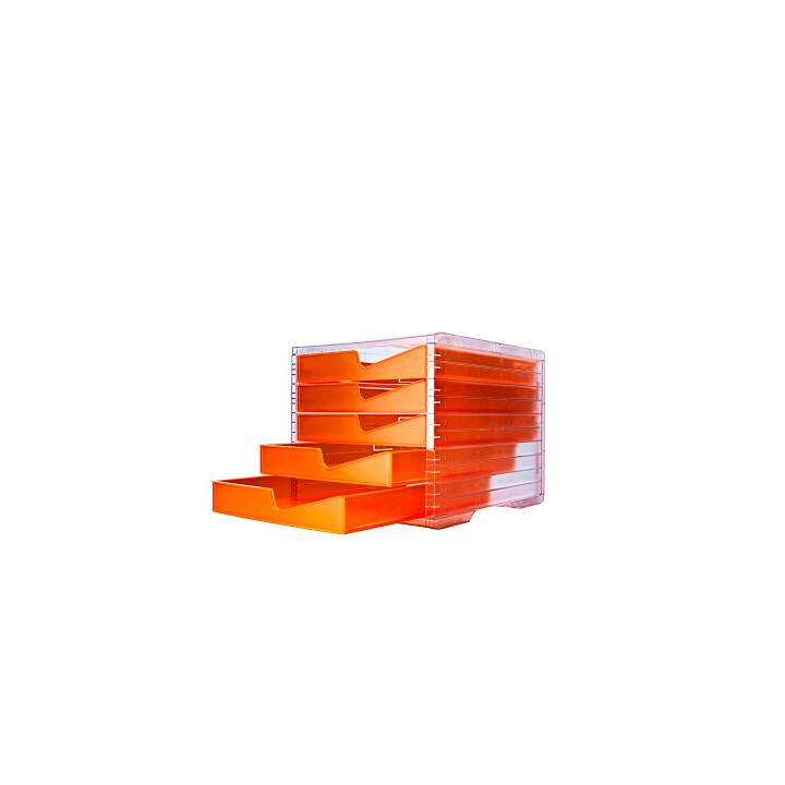 STYRO styroswingboxlight NEONline neon-orange/transparent 5 Fächer