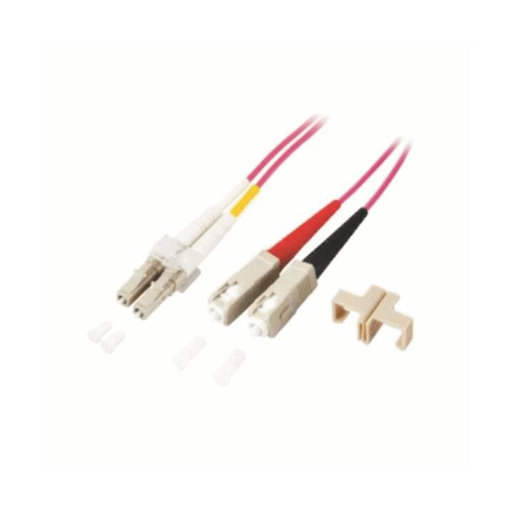 MHE LWL Duplex Jumper Verbindungskabel (LC Multi-Mode, SC multi-mode, 1 m)