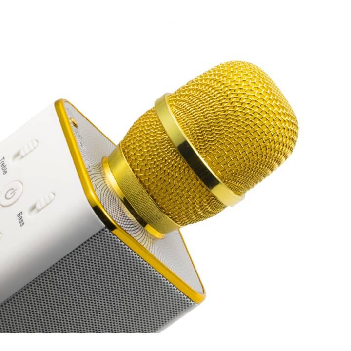 MUSICMAN Karaoke Mikrofon BT-X3I White/Gold