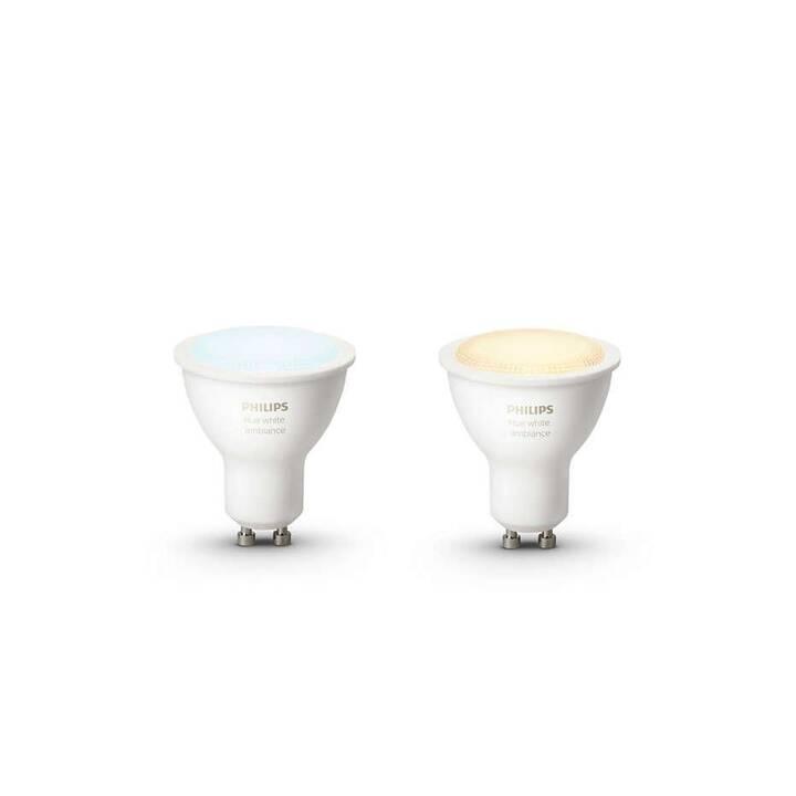 PHILIPS Hue Ampoule LED White Ambiance (GU10, ZigBee, 5.5 W)