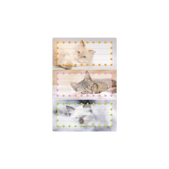 HERMA Étiquettes scolaires Cats (Multicolore, 6 pièce)