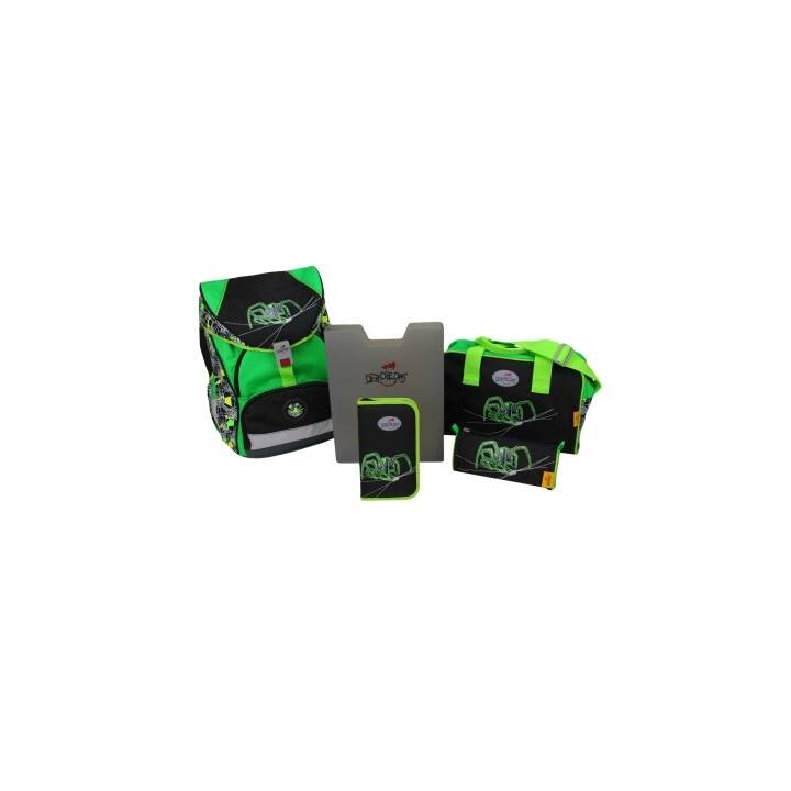DERDIEDAS Ergoflex XL Green Spider Ensemble de 5 pièces