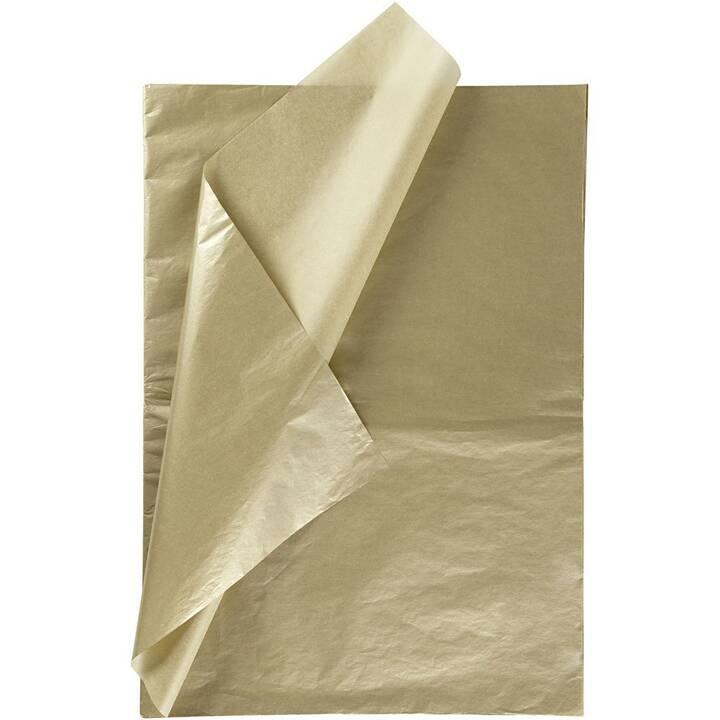 CREATIV COMPANY Papier de soie 50 x 70 cm (Doré)