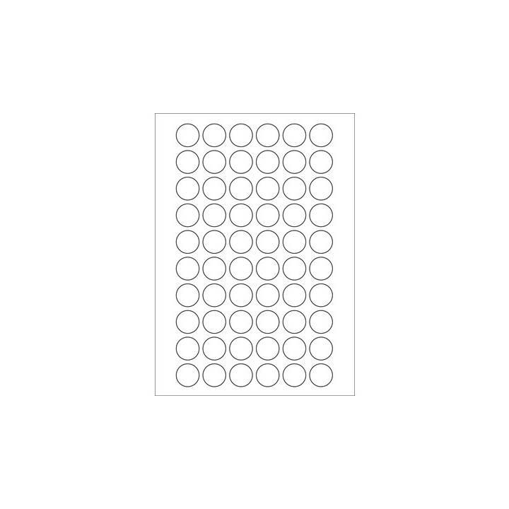 Etichette rotonde KORES