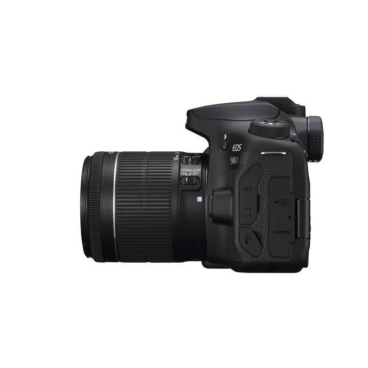CANON EOS 90D + EF-S 18-55 mm f/3.5-5.6 IS STM (32.5 MP, Bluetooth 4.1, WLAN)