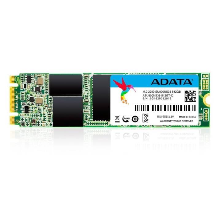 ADATA SU800 (SATA-III, M.2 B+M Key, 512 GB, Vert)
