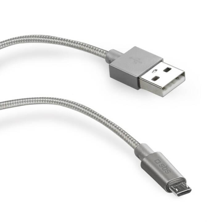 Câble de données SBS / câble de charge métal Argent