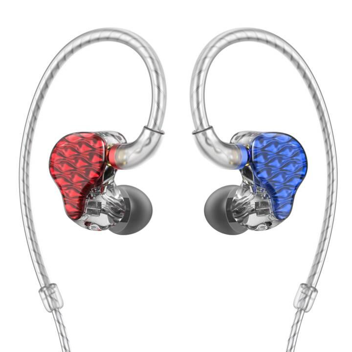 FIIO FA7 (In-Ear, Rot, Blau)