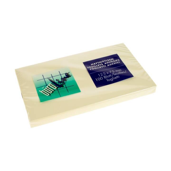 BÜROLINE Haftnotizen (76 mm x 127 mm, Gelb)