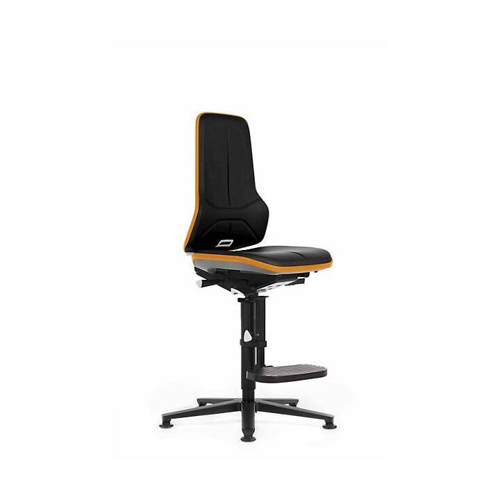 BIMOS Bürostuhl (Schwarz, Orange)
