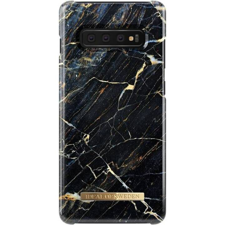 IDEAL OF SWEDEN Backcover Port Laurent Marble (Galaxy S10+, Multicolore, Noir)
