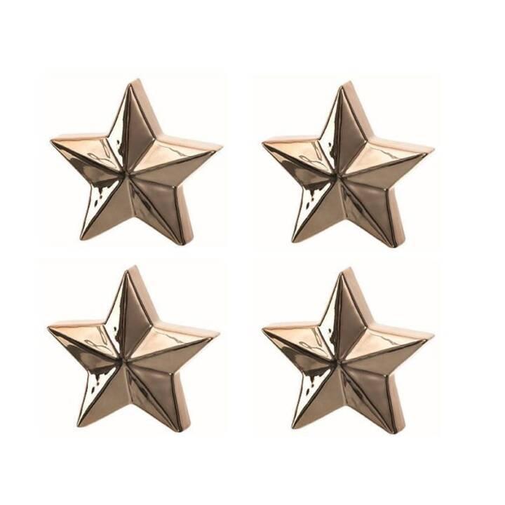 LEONARDO Aufsteller Velluto Stern Gold 12 cm Set