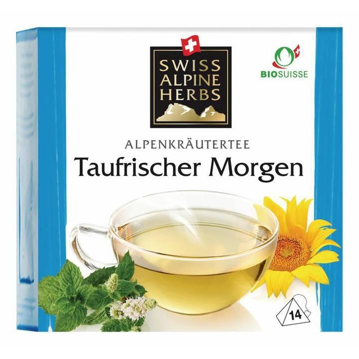 SWISS ALPINE HERBS Taufrischer Kräutermorgen Tè d'erbe (Bustina di tè, 14 pezzo)