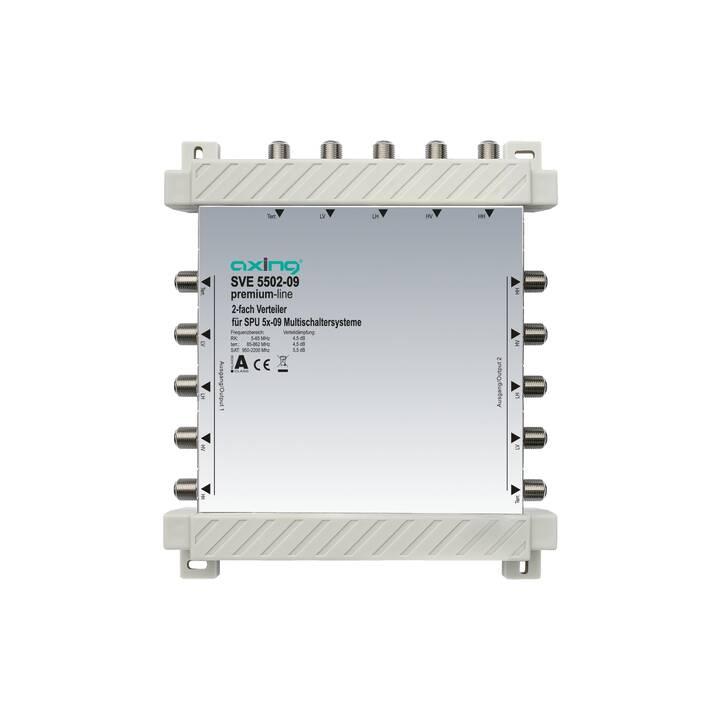 AXING SVE 5502-09 Amplificateurs et répartiteurs (Blanc)
