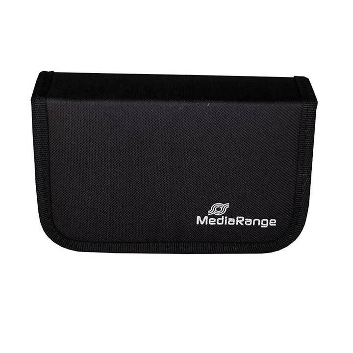 MEDIARANGE Media Storage Wallet per 6 unità flash drive USB e 3 schede SD