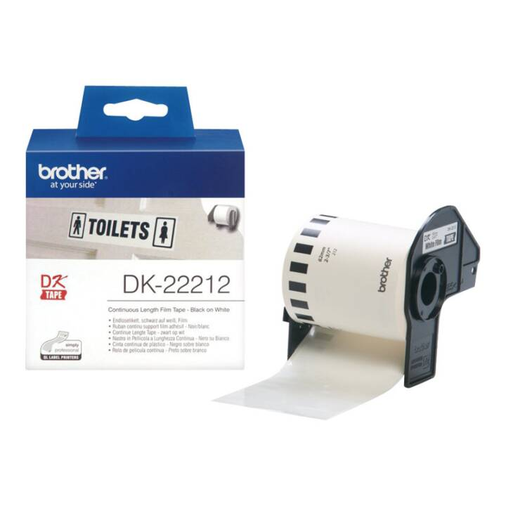 BROTHER DK-22212 Etikettenrolle, Thermo Direct, 62 mm x 15.24 m