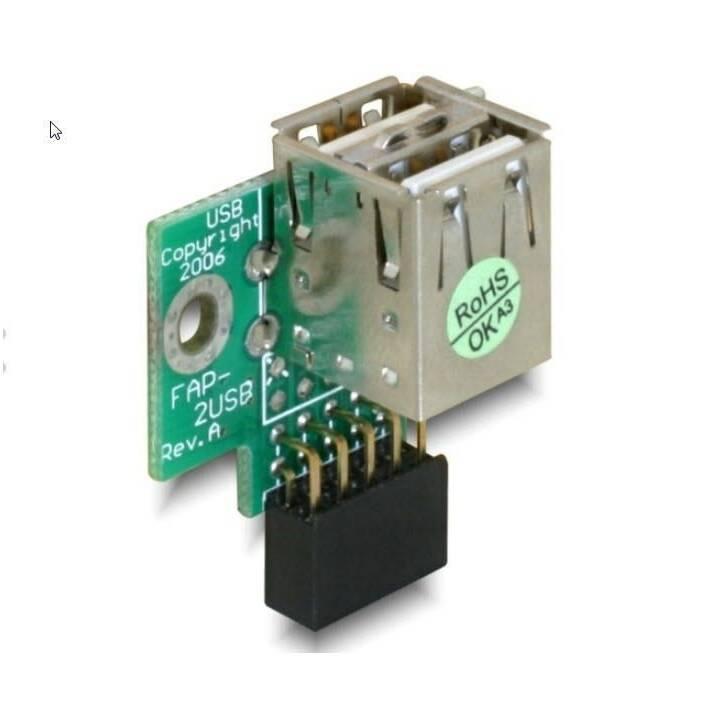 DELOCK Adattatore (USB 2.0, USB 2.0 Tipo-A)