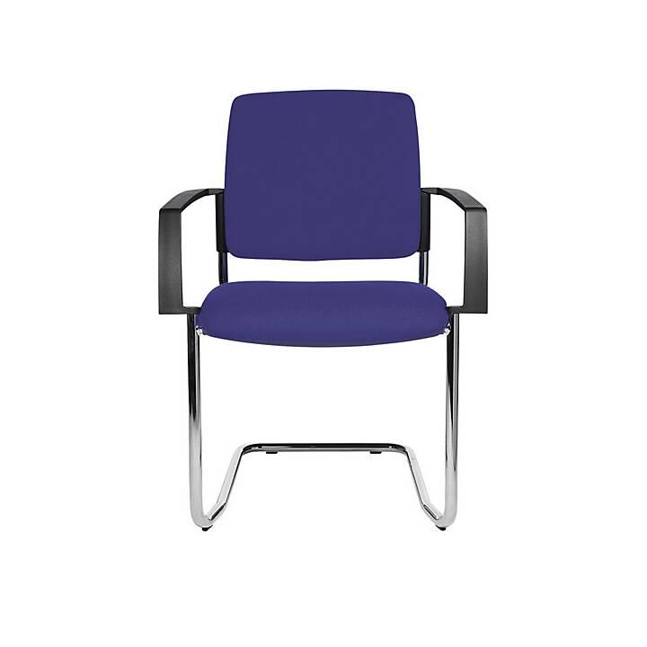 TOPSTAR Konferenzstuhl (Blau, Schwarz, 2 Stück)