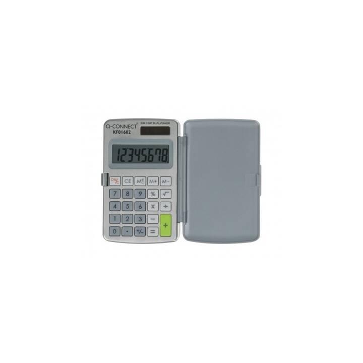 Q-CONNECT KF01602 calcolatrice tascabile semplice calcolatrice tascabile grigia, bianca calcolatrice tascabile
