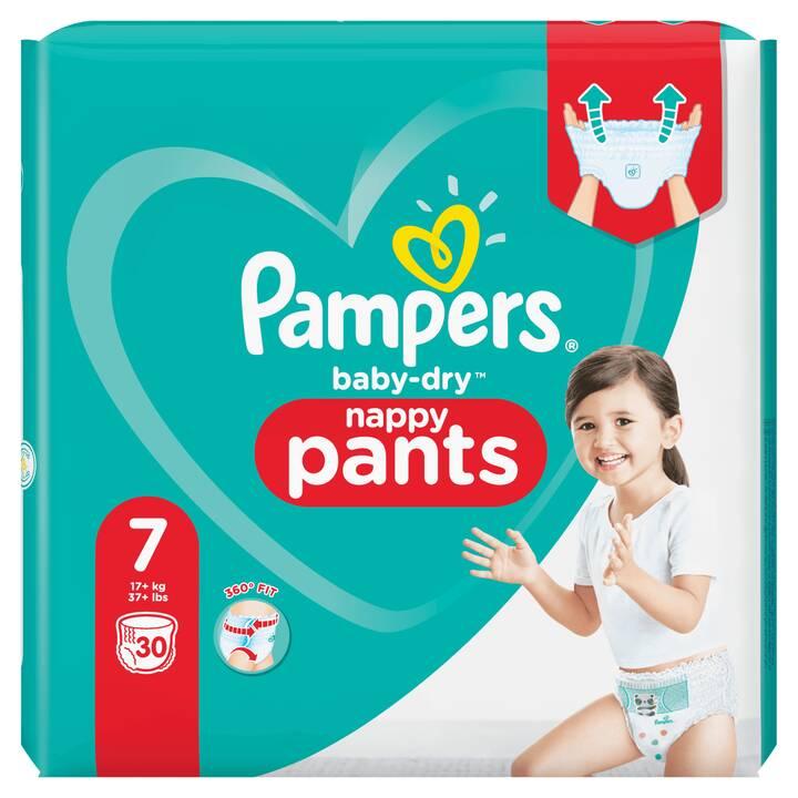 PAMPERS Pannolini elastici per la libertà di movimento Baby-Dry 7 (30 pezzo)