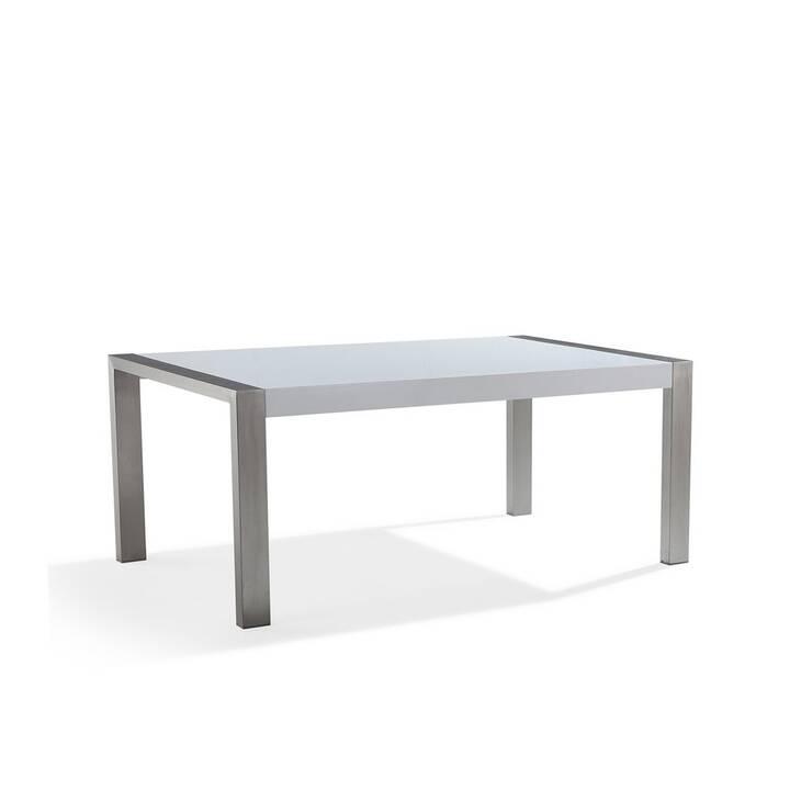 BELIANI Tavolo da pranzo Arctic I (180 cm x 90 cm x 75 cm, Bianco, Metallo)
