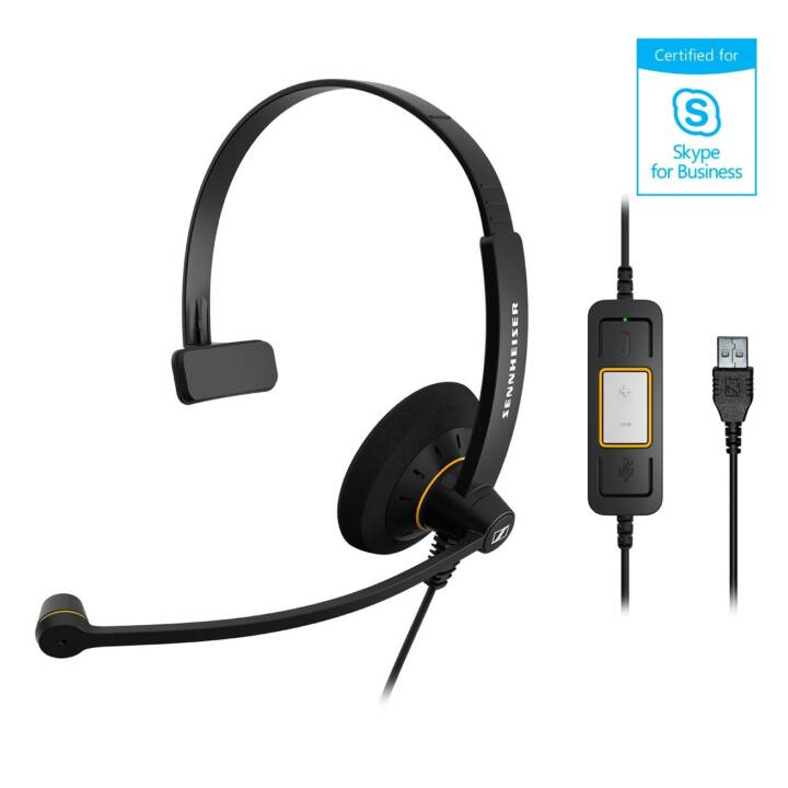 SENNHEISER Auricolare On-Ear SC 30 USB ML ML Nero