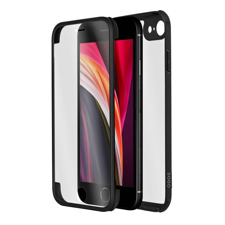 QDOS Backcover Infinity Glass (iPhone SE, iPhone 8, iPhone 7, iPhone 6, Nero)