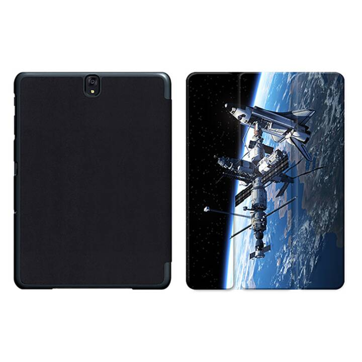"""EG MTT Tablet Bag con coperchio pieghevole Smart per Samsung Galaxy Tab S3 9.7"""" MTT - Stazione Spaziale"""