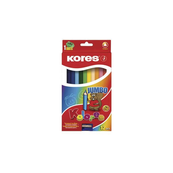 Pastelli KORES JUMBO 12 colori assortiti