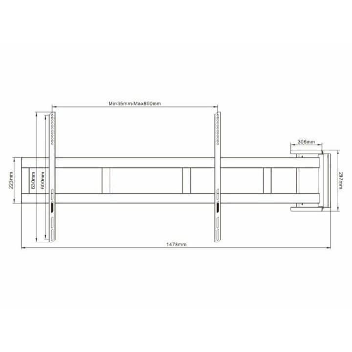 MULTIBRACKETS TV-Halterung Swing Arm 2654 (Wand, Diverse)