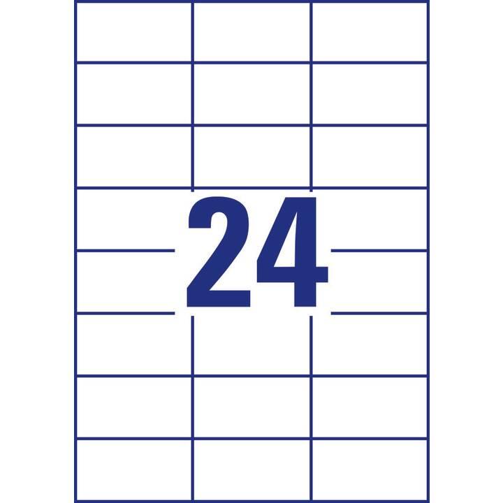 AVERY ZWECKFORM 6173 ultragrip Etiketten (A4, 70 x 37 mm, 30 Blatt)