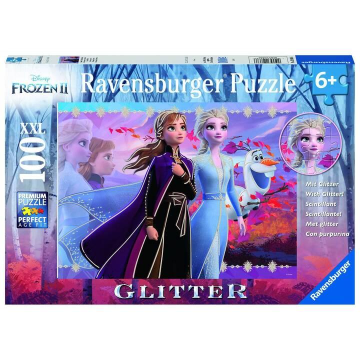 RAVENSBURGER Frozen 2 XXL Glitzer (100 Stück, 2D Puzzle)