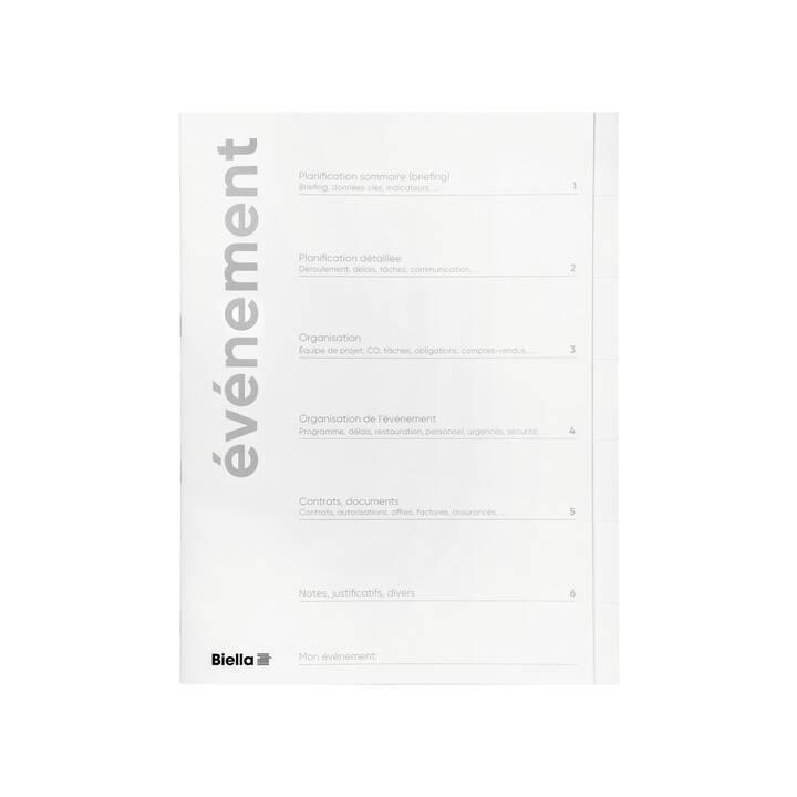 BIELLA Organisationsmappe Event (Weiss, A4, 6 Stück)